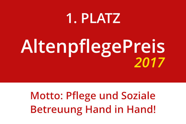 Altenpflegepreis 2017 - 1. Platz